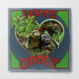Love Oddly Metal Print