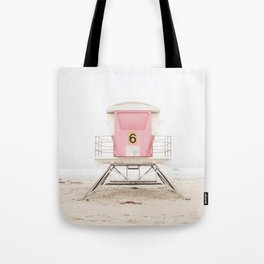 Beach photography pink tower Tote Bag