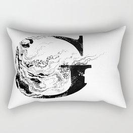Fancy Marbled G Rectangular Pillow