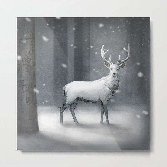 White Stag Metal Print
