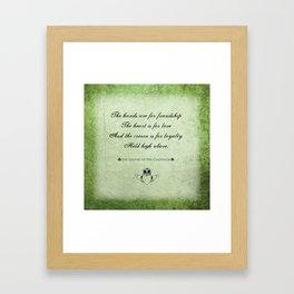 Claddagh ~ Love, Loyality, and Friendship Framed Art Print