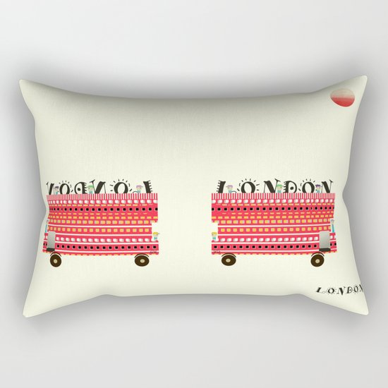 london mini icon  Rectangular Pillow
