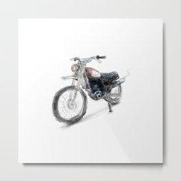 Vintage Enduro Metal Print