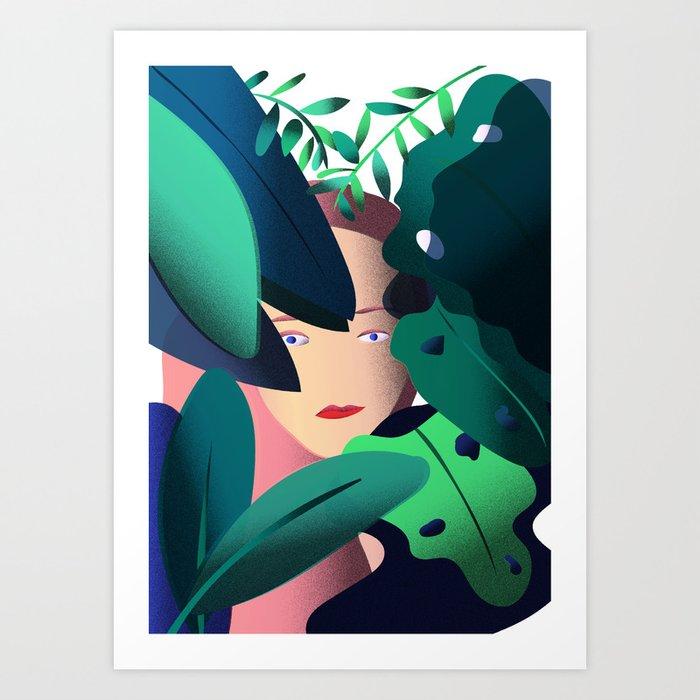 Woman in the Jungle Art Print