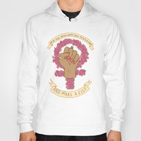 kendrawcandraw Hoodies featuring Femme Is Not Fragile by kendrawcandraw