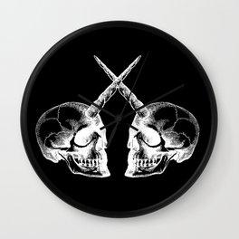 Unicorn Skulls 2 Wall Clock