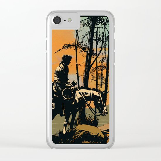 in the evening Clear iPhone Case