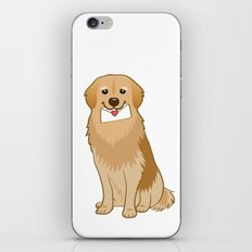 Love Golden Retriever iPhone & iPod Skin