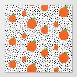 Polka Dot Oranges Canvas Print