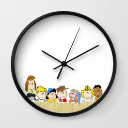 Peanuts Winter Wall Clock