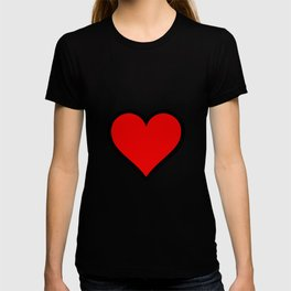Bold Red Heart Shape Valentine Digital Illustration, Minimal Art T-shirt