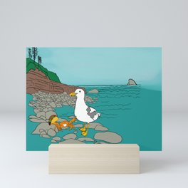Crabarita & Gerry the Seagull from Flock of Gerrys Gerry Loves Tacos by Seasons Kaz Sparks Mini Art Print