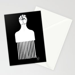 Solidarity Pick - (black) Stationery Cards