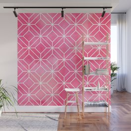 Geometric Crystals: Rose Petal Wall Mural
