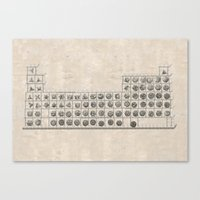 periodic table Canvas Prints featuring Periodic table by Florian Pasquier