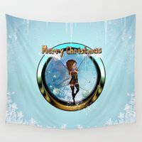 elf Wall Tapestries featuring Cute elf  by nicky2342