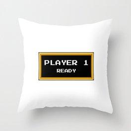Player 1 ready Throw Pillow