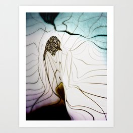 Glacial Foliation Art Print