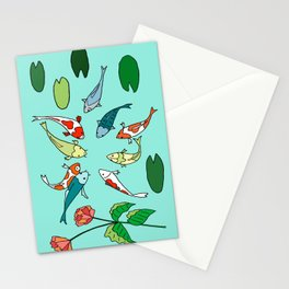 Koi Fish Meeting Stationery Cards