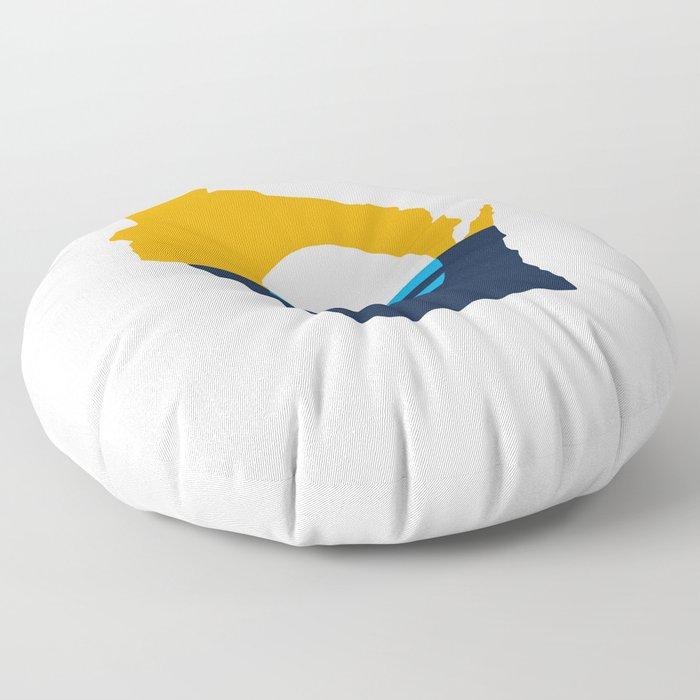 Wisconsin - People's Flag of Milwaukee Floor Pillow