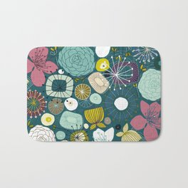 oriental blooms peacock Bath Mat