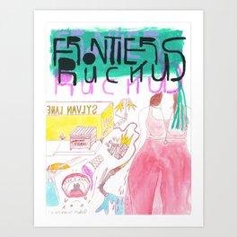 """""""I Met Rebecca"""" / Frontier Ruckus Song Illustrations, Series 1 (5/15) Art Print"""
