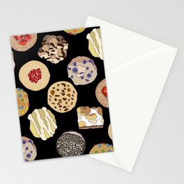 Cookies in Black Stationery Cards
