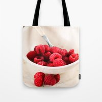breakfast Tote Bags featuring Breakfast by Donna M Condida