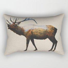 The Rocky Mountain Elk Rectangular Pillow