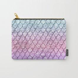 Mermaid Scales on Unicorn Girls Glitter #4 #shiny #pastel #decor #art #society6 Carry-All Pouch