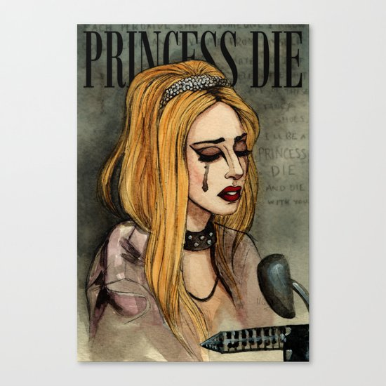 Princess Die Canvas Print