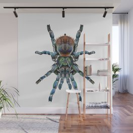 BottleGreen Blue Tarantula Wall Mural