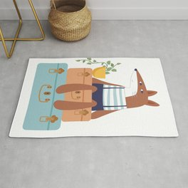 Fox on Vacation Rug