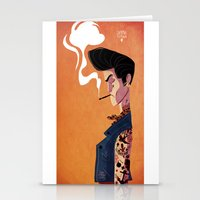 rockabilly Stationery Cards featuring Rockabilly Boy by quentinschall