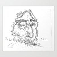 John Give Peace a Chance #Iamthewalrus Art Print