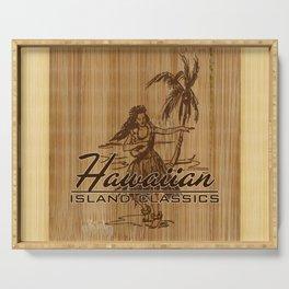 Tradewinds Hawaiian Island Hula Girl Serving Tray