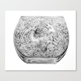Two Lost Souls Swimming In A Fish Bowl Canvas Print