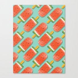 Watermelon Popsicles Pattern #society6 #decor #buyart Canvas Print