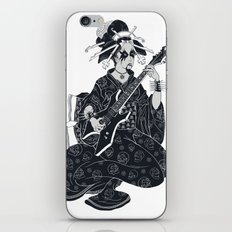 Black Metal Geisha iPhone Skin