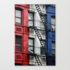 NYC Red White Blue Canvas Print