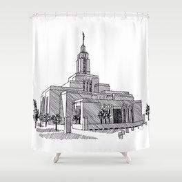 Draper Utah LDS Temple Shower Curtain