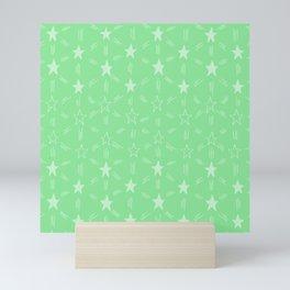 Stars and Stripes in Green Mini Art Print