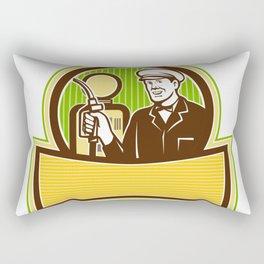 Vintage Gas Attendant Retro Rectangular Pillow