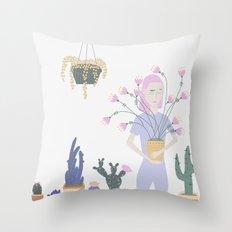 Plantasia Throw Pillow