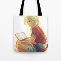 viria Tote Bags featuring wise girl by viria