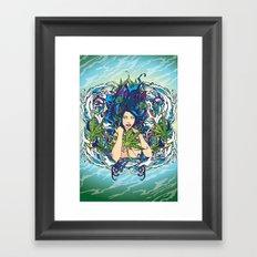 GANJA GIRL Framed Art Print