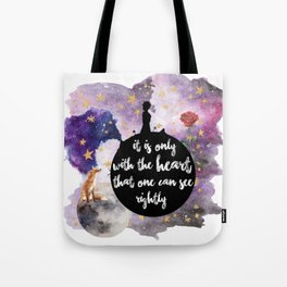 Little Prince With the Heart Tote Bag