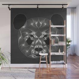 Panda bear Black and white Zentangle Wall Mural