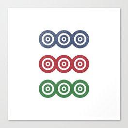 Mahjong: 9 Dots Canvas Print