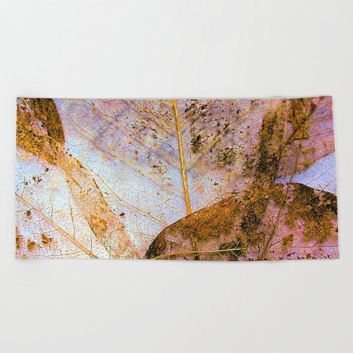Leaf Skeletons Beach Towel